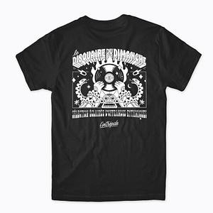 t-shirt le disquaire du dimanche x studio l'intrépide